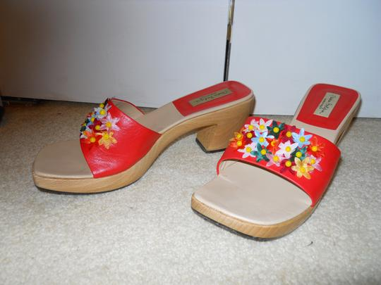 Mario Bologna Leather Mbc orange multi Sandals