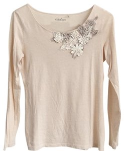 Caslon T Shirt Cream and light taupe