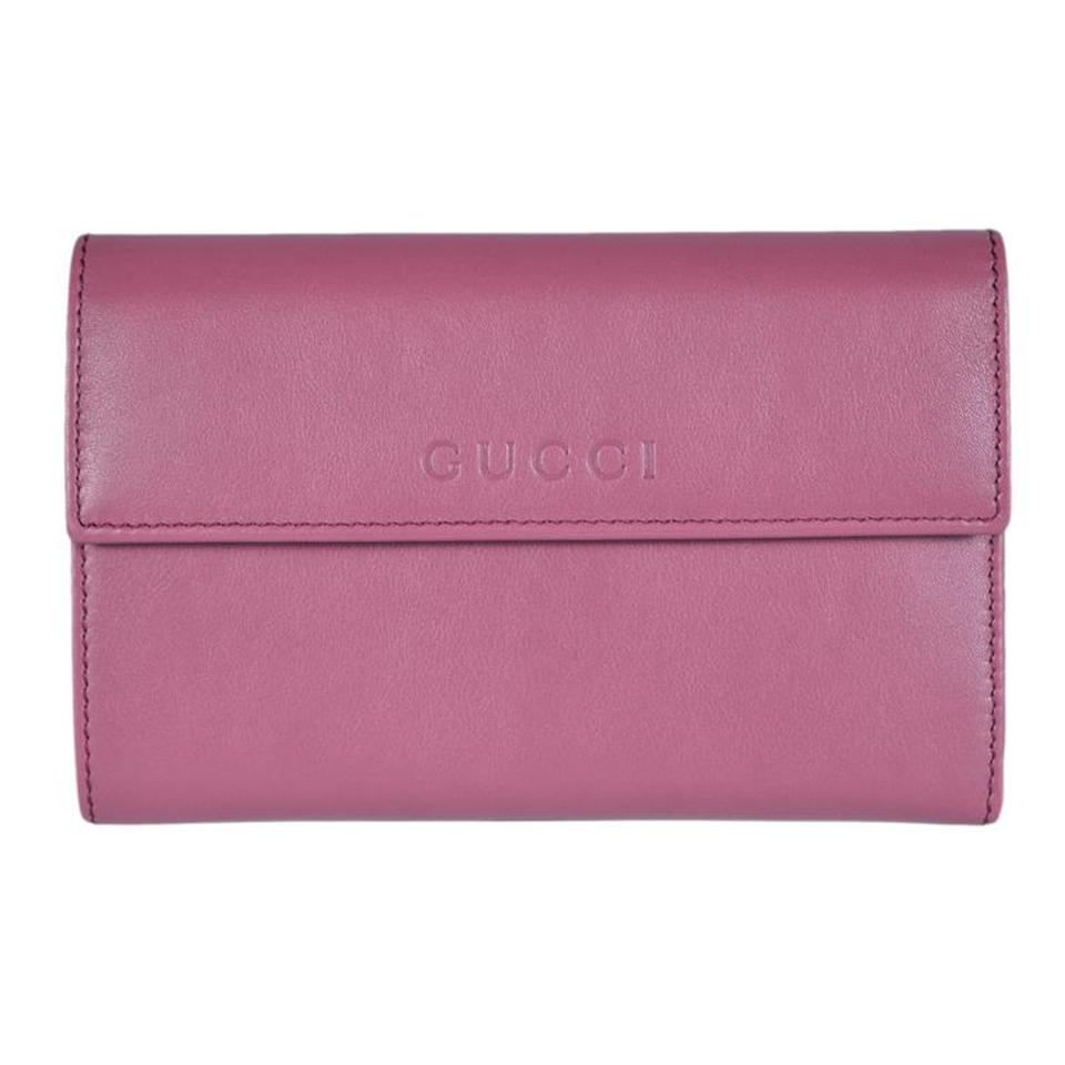 573b8c602c4d Gucci Pink Women S Leather French Flap 346057 5535 Wallet Tradesy