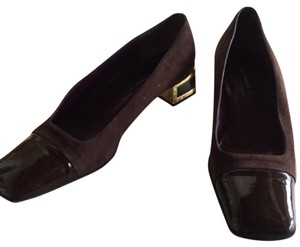 Bruno Magli Brown with Gold Trim Flats