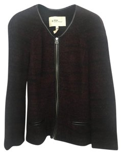 Isabel Marant Leather Sweater Saint Laurent Bordeaux & Black Jacket