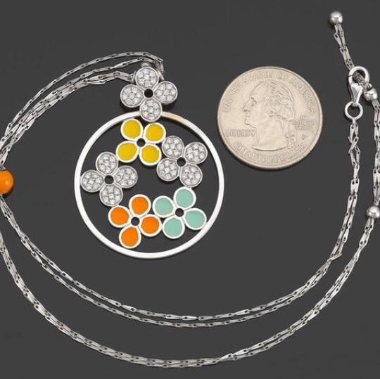 Roberto Coin Roberto Coin Gold, Diamond and Enamel Necklace 18k white gold 16 inches Image 1