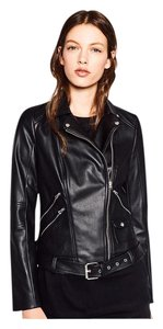 Zara Faux Leather Edgy Chic Motorcycle Jacket