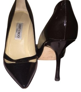 Jimmy Choo Patent Leather Like New Box And Dust Cover Brown Pumps
