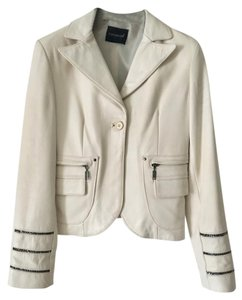 KOR @ KOR White-Milk Leather Jacket
