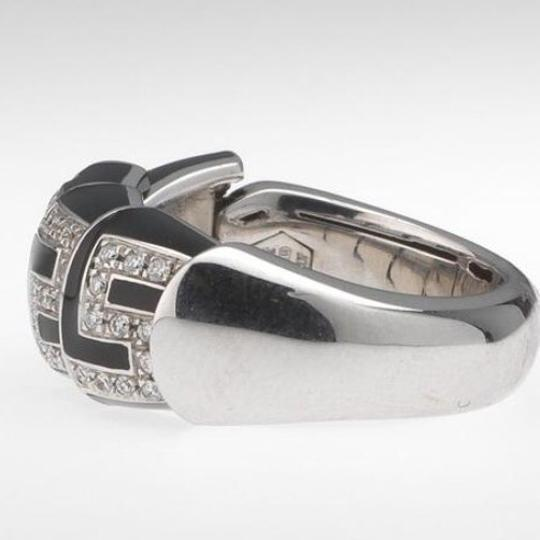 Roberto Coin Roberto Coin Ladies Ring With Black Enamel and Diamonds Image 5