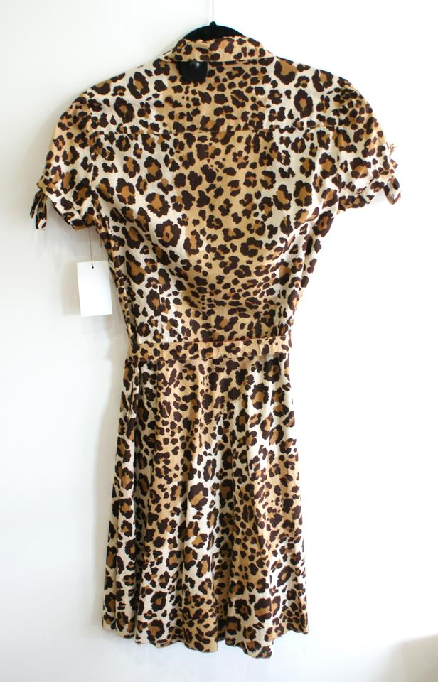 c6e7923c3495 Moschino Brown Cheap and Chic Leopard Print Cotton 8/10 Mid-length  Work/Office Dress Size 8 (M) - Tradesy