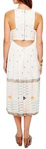 Ivory Maxi Dress by Free People Fp New Romantics Maxi Etched Maxi Embroidered Bohemian Cutout Back