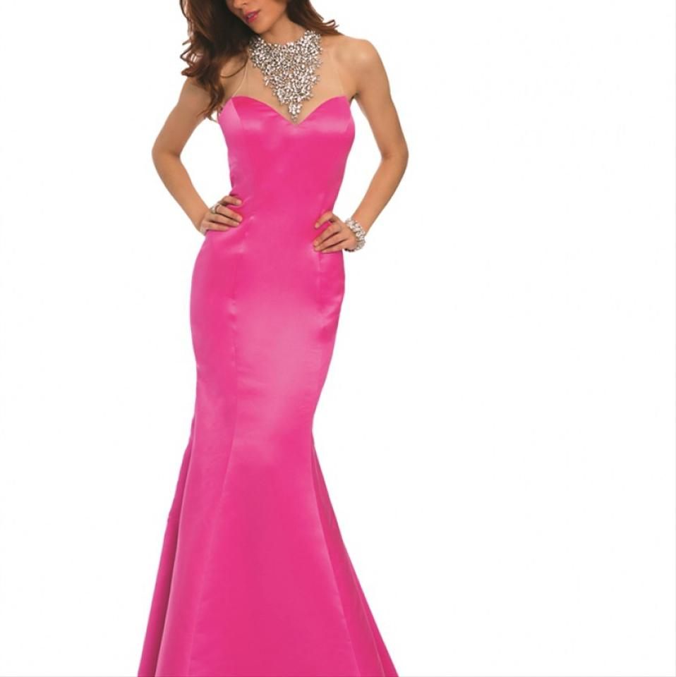 Jovani Hot Pink 20999 Prom and Evening Gown Long Formal Dress Size ...