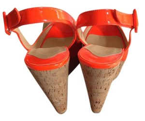 Christian Louboutin Wedge Christan Loubouton Orange Wedges