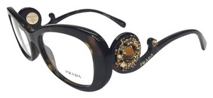 Prada NEW PRADA ORNATE BAROQUE OPTICAL EYEGLASSES VPR 10Q 2AU-1O1