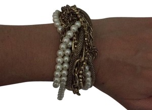 J.Crew pearl and gold bracelet