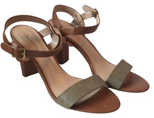 City Classified Green Sandals