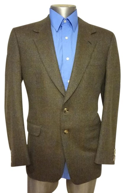 Preload https://img-static.tradesy.com/item/21007082/brioni-white-man-blazer-sport-tweed-green-2-buttons-for-naiman-marcus-spring-jacket-size-12-l-0-1-650-650.jpg