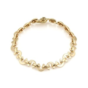 Chanel Chanel 18k Yellow Gold Signature C Link Bracelet