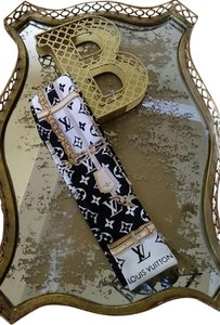 Louis Vuitton Louis Vuitton Black Confidential Silk Bandeau Scarf Limited Edition