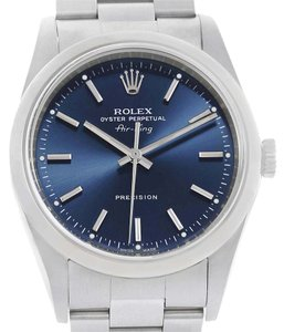 Rolex Rolex Air King Blue Baton Dial Stainless Steel Mens Watch 14000