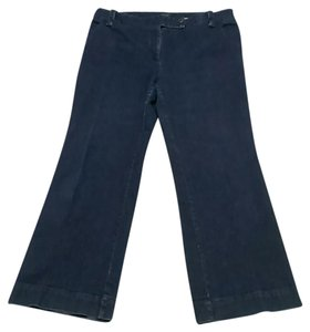 Talbots Jeans Boot Cut Pants Dark Blue