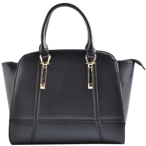 USO Couture With Flower Leather Bagsforwomen Fashionforwomen Tote in Black