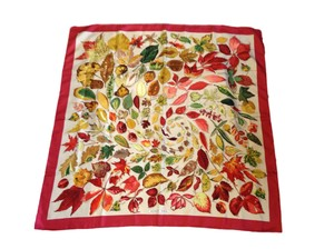Herms Hermes Paris Fall Foliage Scarf