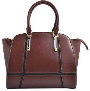 USO Couture With Flower Leather Bagsforwomen Fashionforwomen Tote in Brown