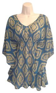 New York & Company Top Turquoise