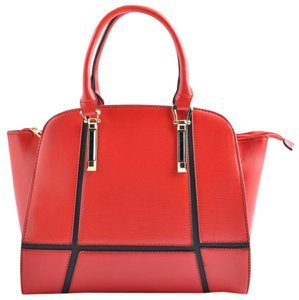 USO Couture Leather Bagsforwomen Fashionforwomen Red Tote in Brown