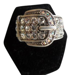 Premier Designs 'BUCKLE UP' RING SIZE 8 NEW IN BOX RV$53 AUTHENTIC