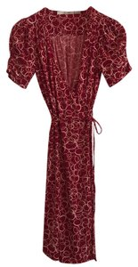 Gibson short dress Red & White Print Wrap on Tradesy
