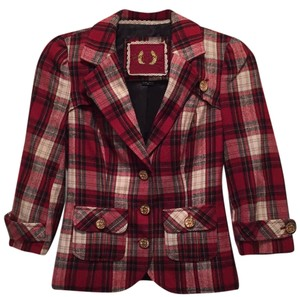 Guess black, red, cream and a touch of gold Blazer