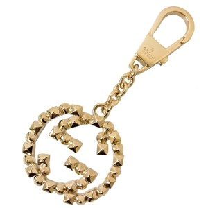 Gucci Gucci Interlocking GG Spiked Brass Gold Ring Charm Key 388389 0953