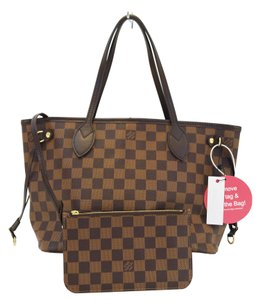 Louis Vuitton Lv Neverfull Pm Damier Ebene Tote Shoulder Bag