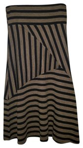 Other Maxi Skirt Black & Tan Brown