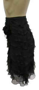 Andrew Gn Gn Chiffon Layers Skirt Black