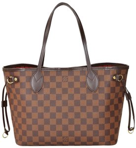 Louis Vuitton Canvas Brown Tote in Damier Ebene