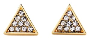 Other New Tiny Pave Gold Crystal Stud Earrings