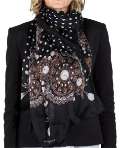 Givenchy Givenchy Women's Jeweled Pattern Silk Scarf Large