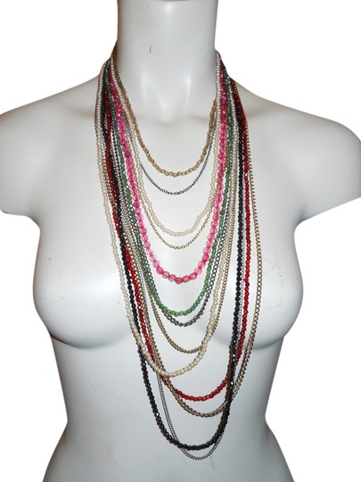 Preload https://item3.tradesy.com/images/multi-color-chain-beaded-necklace-2100782-0-0.jpg?width=440&height=440