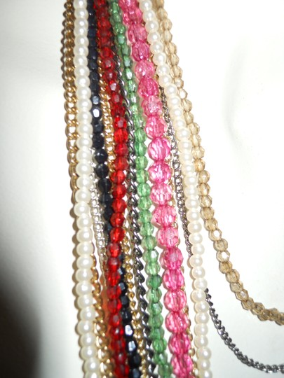 unknown multi chain beaded necklace