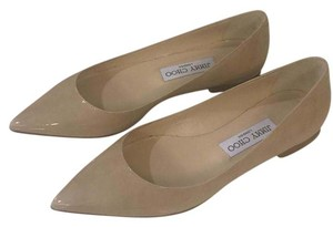 Jimmy Choo Nude Patent Leather Flats