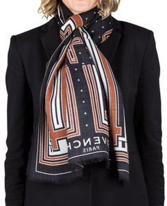 Givenchy Givenchy Women's Stripes and Crosses Silk Scarf Large