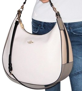 Coach Signature Large Colorblock Leather Hobo Bag