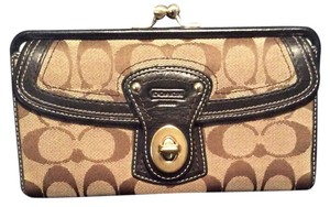 Coach Coach Signature - Leather and Canvas Wallet