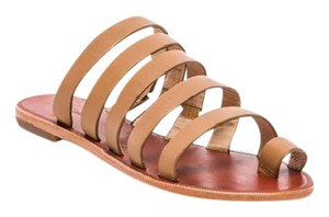 Matiko Strappy Flat Tan Sandals