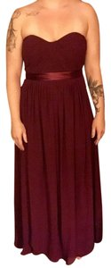Bill Levkoff Wine/maroon Bill Levkoff Bridesmaid Dress Dress