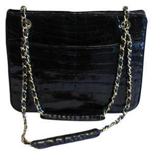 Chanel Croc Crocodile Satchel in Black