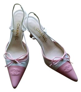 Chanel Pink and White Pumps