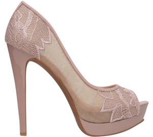Jessica Simpson Embroidered Embellished Floral Limited Edition Blush Pumps