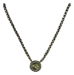 David Yurman David Yurman Peridot Cookie Necklace