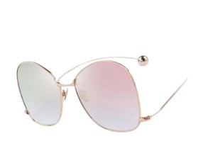 Merry's Pink Mirrored Butterfly Sunglasses